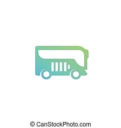 electric bus vector icon