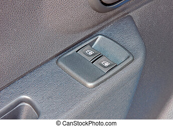 Electric button for closing a car window