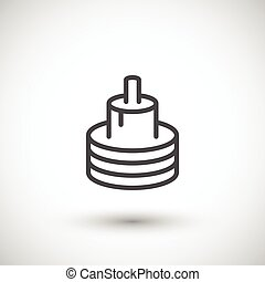 Electric cable line icon