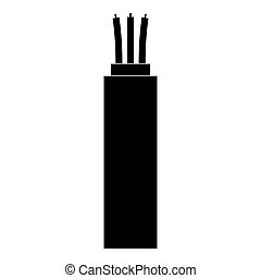 Electric cable the black color icon .