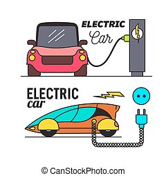 Electric car charging.