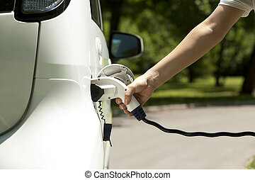 Electric car - Charging of an electric car