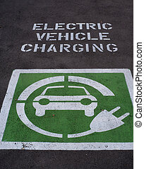 Electric Car Charging parking place - A parking place for...