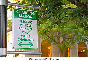 electric car charging sign - Charging sign for electric car...