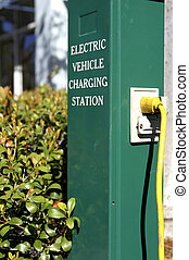 car charging - Electric car charging station in celebration...