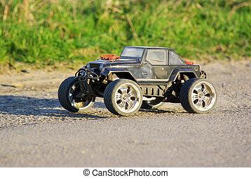 Electric car - Electric off-road car, radio controlled model...