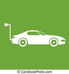 Electric car icon green