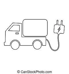 electric car icon illustration design