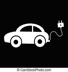 electric car icon illustration idesign