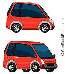 Electric car on white background