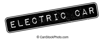 Electric Car rubber stamp. Grunge design with dust scratches...
