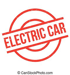 Electric Car rubber stamp