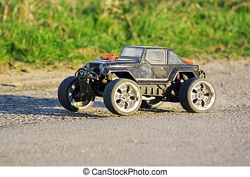 Electric car - Electric off-road car, radio controlled model...