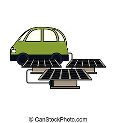 electric car with solar panels