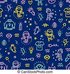 Electric characters pattern