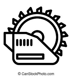 Electric circular saw icon, outline style
