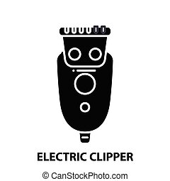 electric clipper icon, black vector sign with editable strokes, concept illustration