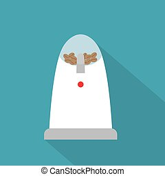 electric coffe grinder icon- vector illustration