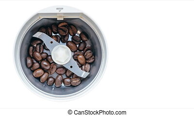 Electric coffee mill. - Electric coffee-mill machine with on...