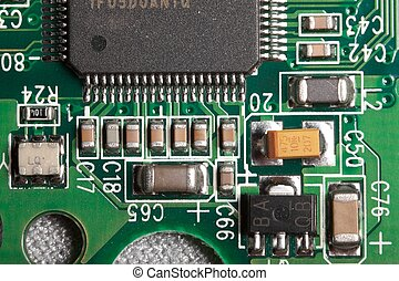 Electric components macro - Extreme macro of electric...