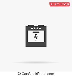 Electric Cooker flat vector icon