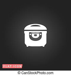 Electric Cooker icon on  background.