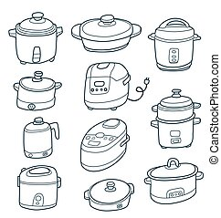 electric cooker set.
