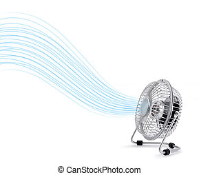 Electric cooler fan blowing fresh air