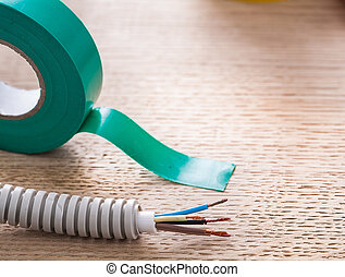Electric corrugated pipe cables insulating tape electricity ...