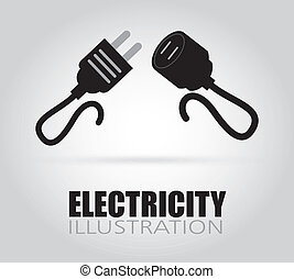 Electric design - electric design over gray background, ...