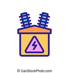 electric distributor icon vector outline illustration