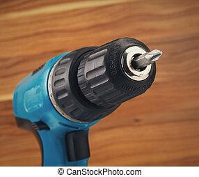 drill with drill bit