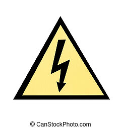Electric emergency sign - Yellow electric emergency sign...