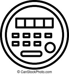 Electric energy meter icon, outline style - Electric energy...