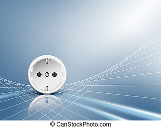 Electric energy - socket, outlet - Energy concept with...