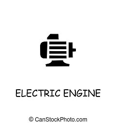 Electric Engine flat vector icon