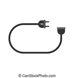 Electric extension cord icon - vector.