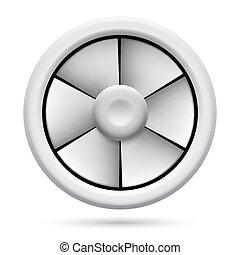 Electric fan - Electric plastic fan. Illustration on white...