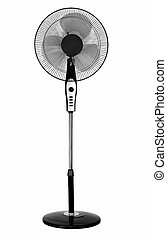 electric fan in front of white background