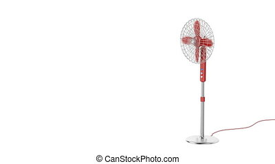 Electric fan on white background