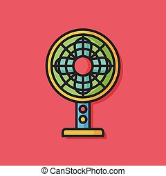 electric fan vector icon