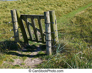 Electric fence and cattle security gate for safe grazing of...