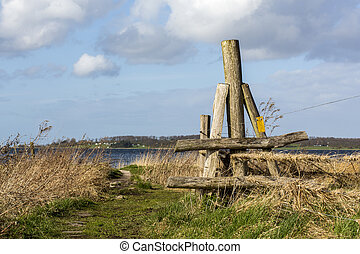 Electric fence - electric fence by the sea in Roskilde,...