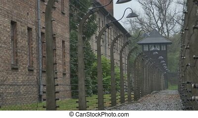 Electric Fences at Concentration Camp - Deadly electrical...