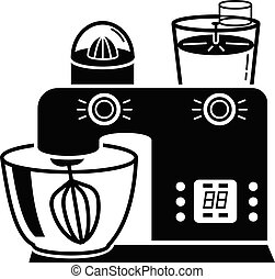 Electric food machine icon, simple style