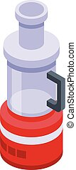 Electric food mixer icon, isometric style