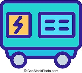 electric generator icon vector outline illustration