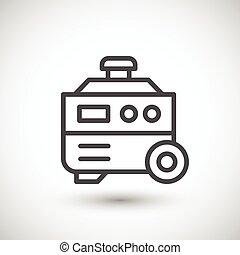 Electric generator line icon