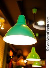 Electric green vintage lamp