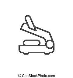 Electric grill line outline icon